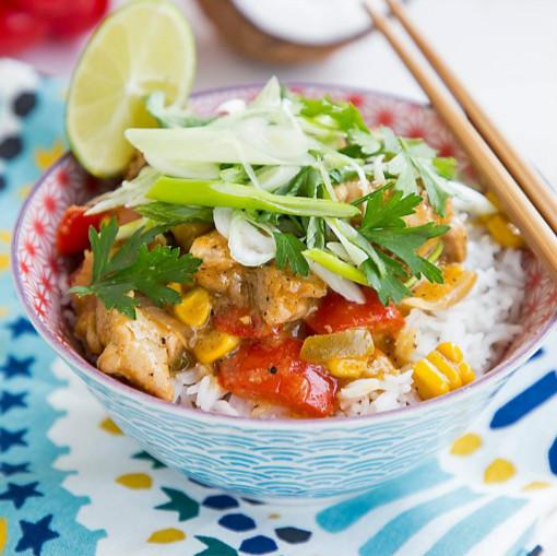My thai: δοκίμασε το (*μούρλια) ταϊλανδέζικο κοτόπουλό μου με καλαμπόκι και καρύδα