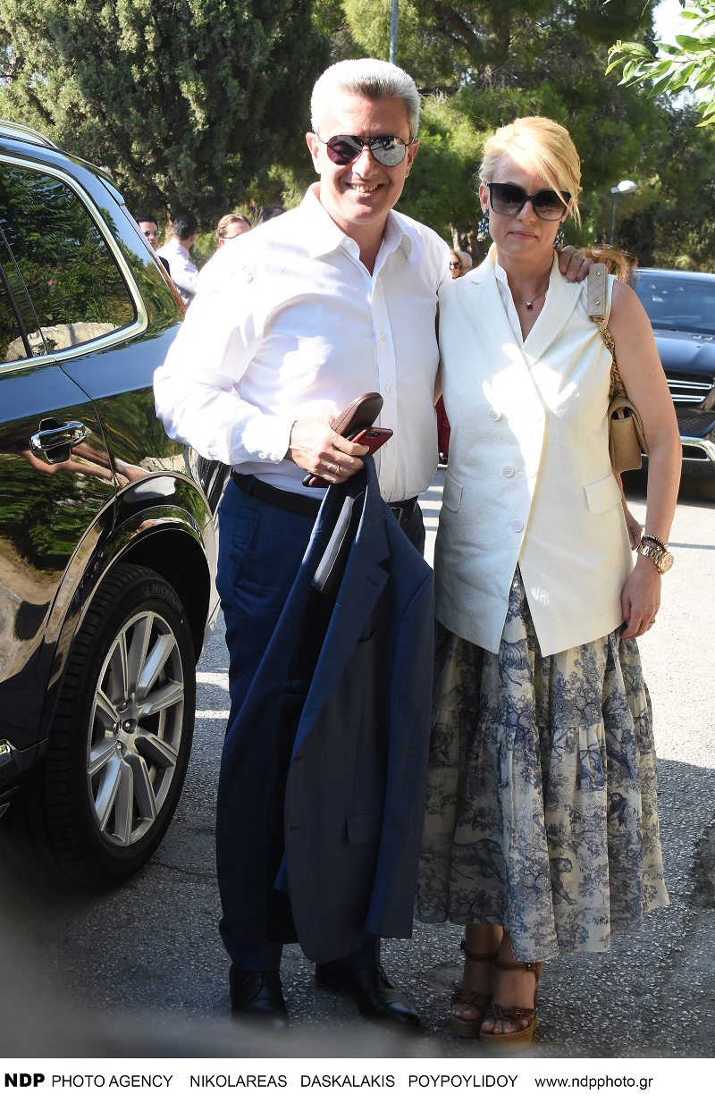 O Νίκος Χατζηνικολάου μαζί με τη σύζυγό του, Κρίστη Τσολακάκη / Φωτογραφία: NDP