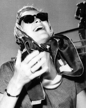 Αποτέλεσμα εικόνας για grace kelly scarf sunglasses