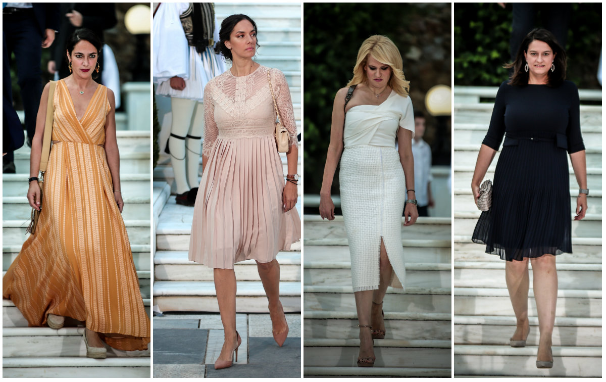"""Προεδρικό Μέγαρο: Οι λαμπερές (νέτες-σκέτες) κυρίες & οι """"Ιουλιανές 'παραβάτισσες' """"- φωτογραφίες"""