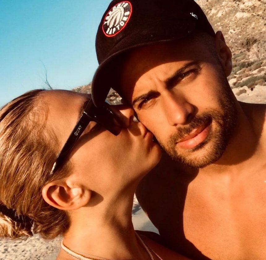 Ευρυδίκη Βαλαβάνη - Κωνσταντίνος Βασάλος: Καυτά φιλιά μέσα στη θάλασσα και ρομαντικές αναμνήσεις από την Κρήτη
