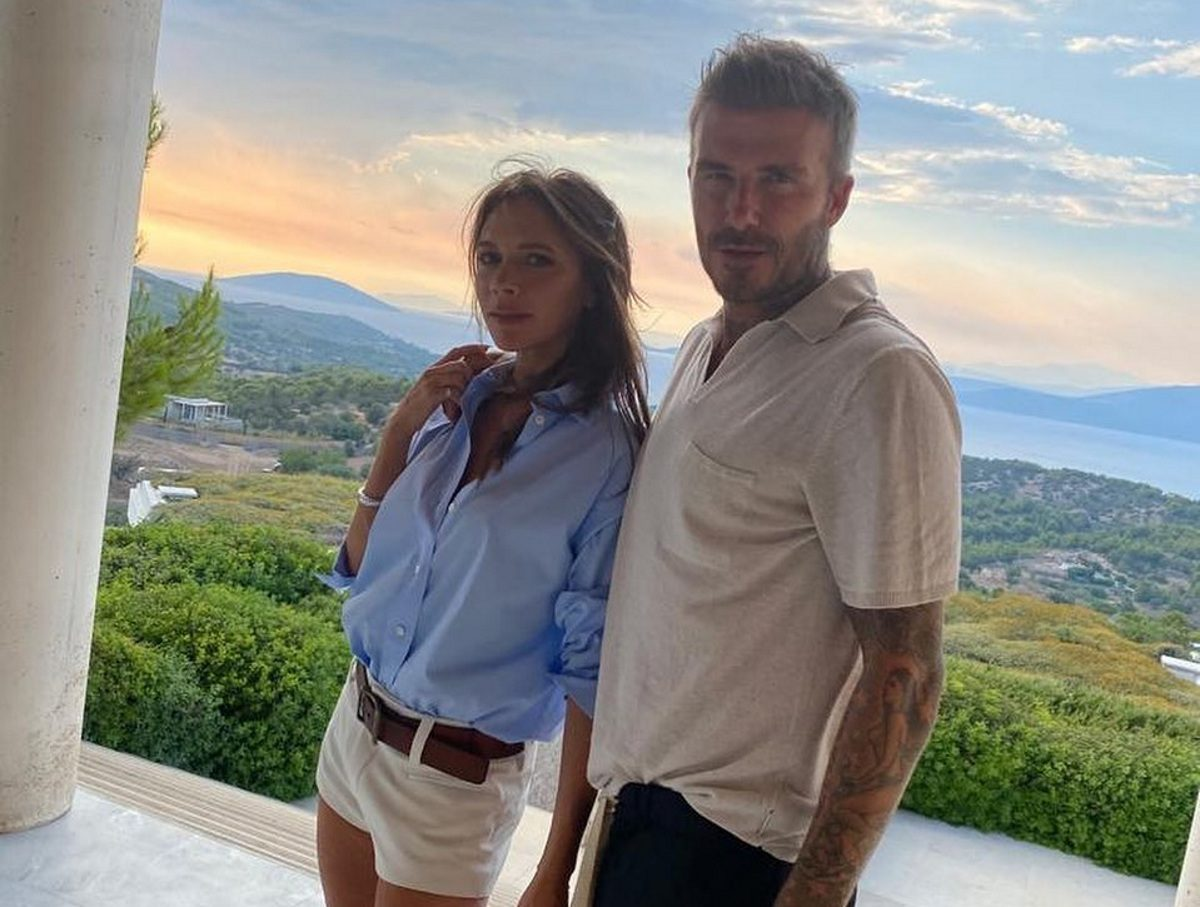 Έτσι χαιρέτησαν την Ελλάδα η οικογένεια Beckham