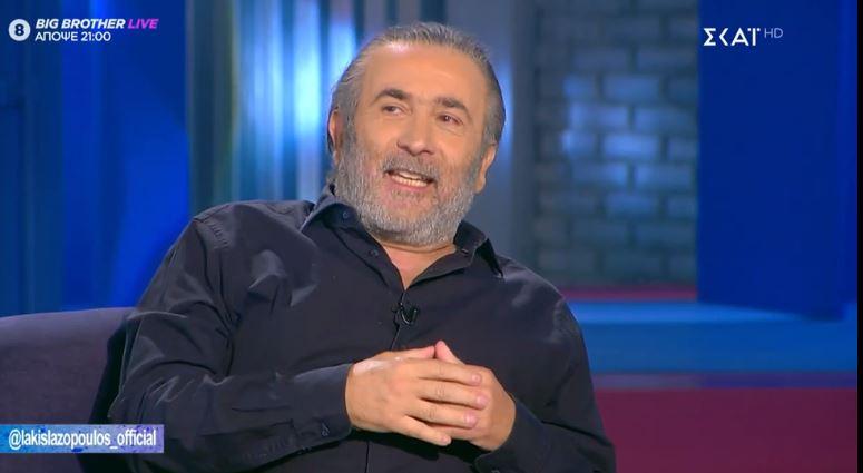 Λάκης Λαζόπουλος: Το θέατρο μου αρέσει πάρα πολύ, πάντα μου άρεσε.