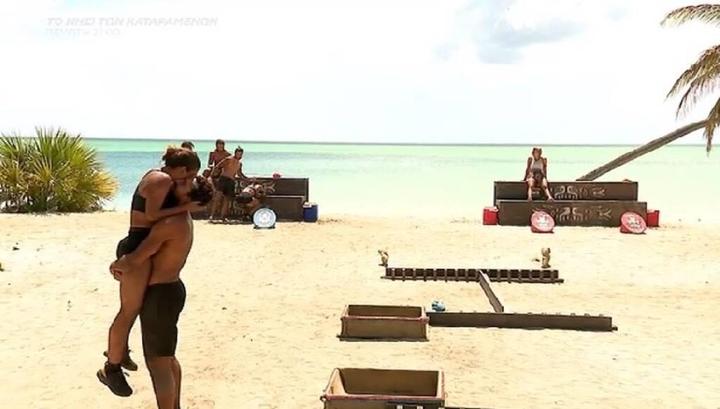 Survivor: Η νίκη την έκανε να τρέξει στην αγκαλιά του Σάκη