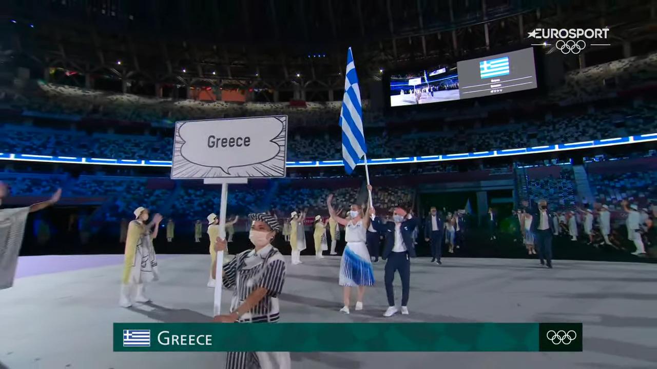 Τόκιο 2020: η Ελληνική αποστολή άνοιξε την παρέλαση των αθλητών σε μια εντυπωσιακή τελετή έναρξης
