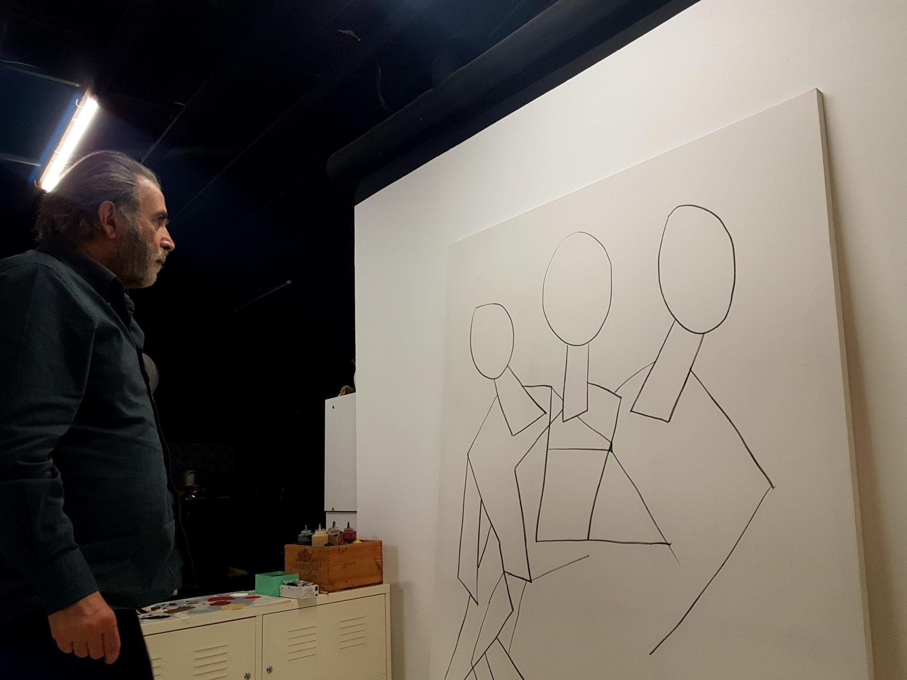 Η πρώτη έκθεση ζωγραφικής του Λάκη Λαζόπουλου, μαζί με τον ζωγράφο Απόστολο Χαντζαρά