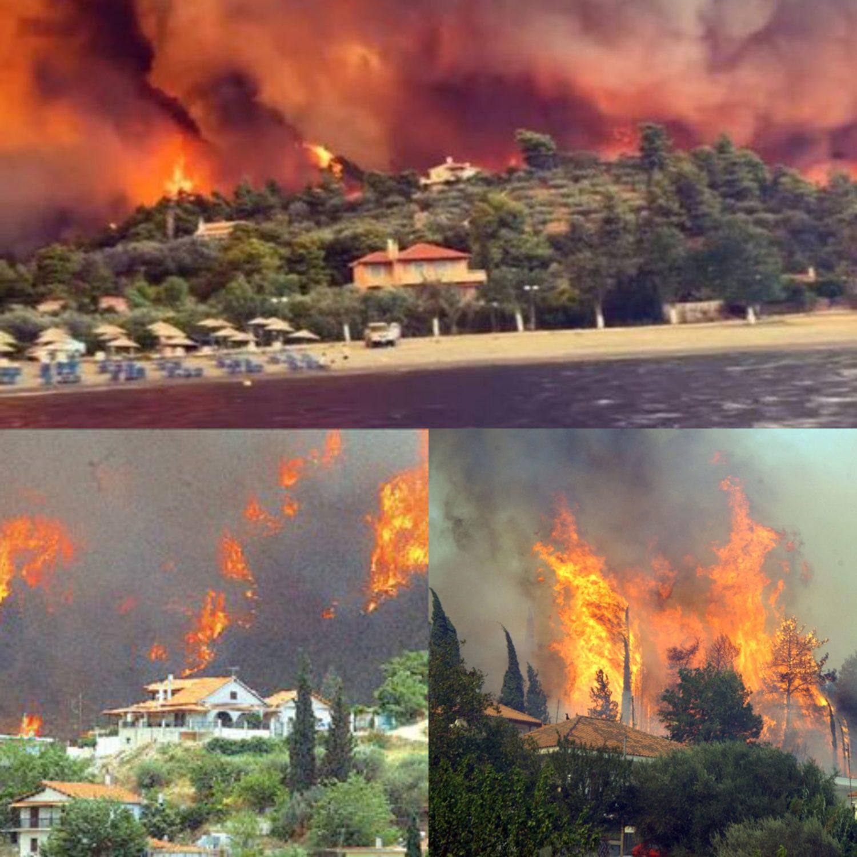 Πύρινη κόλαση στην Εύβοια! Ανεξέλεγκτη η πυρκαγιά καίει τα πάντα για τρίτη μέρα! Εντολή να παρέμβει ο στρατός
